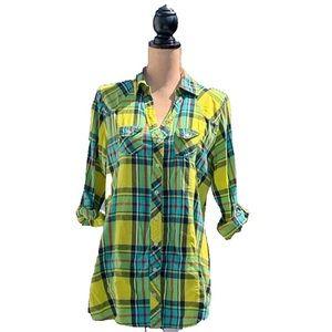 ☀️4/25 Rue21 Plaid Shirt